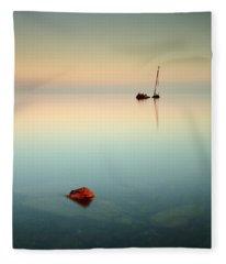 Flat Calm Shipwreck Sunrise Fleece Blanket