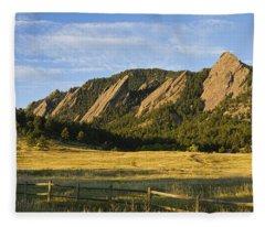 Flatirons From Chautauqua Park Fleece Blanket