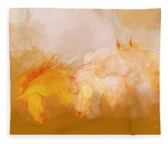 Flaxen Manes Fleece Blanket