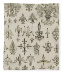 Fleur De Lys Designs From Every Age And From All Around The World Fleece Blanket