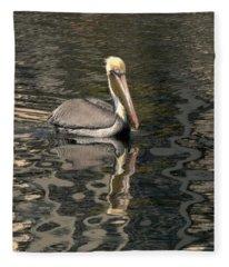 Floating Pelican Fleece Blanket