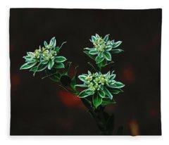 Floating Petals Fleece Blanket
