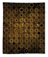 Flora Spiro Metal Quilt Fleece Blanket