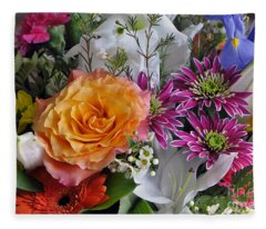 Floral Bouquet 6 Fleece Blanket