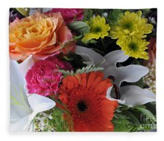 Floral Bouquet 7 Fleece Blanket