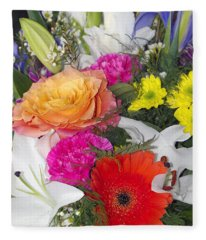 Floral Bouquet Fleece Blanket