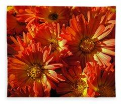 Floral Frenzy Fleece Blanket