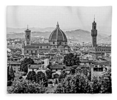 Florence Bw Fleece Blanket