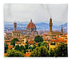 Florence - Oil Fleece Blanket