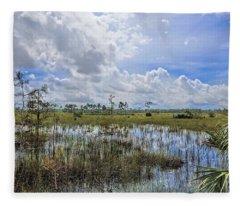 Florida Everglades 0173 Fleece Blanket