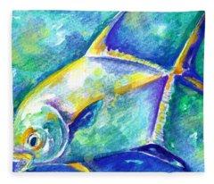 Florida Keys Permit Fleece Blanket