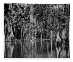 Florida Naturally 2 - Bw Fleece Blanket