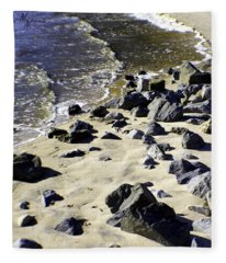 Florida Town Beach Fleece Blanket