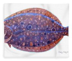 Flounder Fleece Blanket