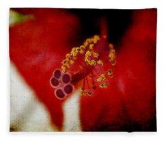 Flower Abstract Fleece Blanket