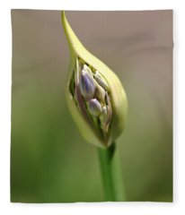 Flower-agapanthus-bud Fleece Blanket