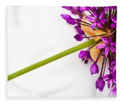 Flower At Rest Fleece Blanket