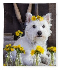 Fleece Blanket featuring the photograph Flower Child by Edward Fielding