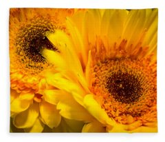 Flower Eyes Fleece Blanket