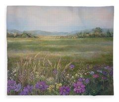 Flower Field Fleece Blanket