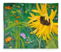Flower Fun Fleece Blanket