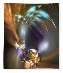 Flower In Your Dreams - Abstract Art Fleece Blanket