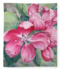 Flower Of Crab-apple Fleece Blanket