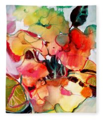 Flower Vase No. 2 Fleece Blanket