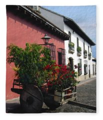 Flower Wagon Antigua Guatemala Fleece Blanket