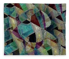 Flower Warrior Fleece Blanket