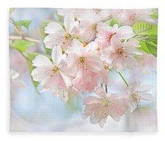Flowering Cherry Tree Blossoms Fleece Blanket