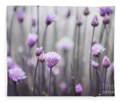 Flowering Chives IIi Fleece Blanket