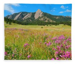 The Flatirons Colorado Fleece Blanket