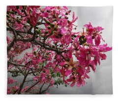Flowers And Thorns And The Sky Adorned  Fleece Blanket
