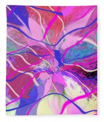 Original Contemporary Abstract Art Flowers From Heaven Fleece Blanket