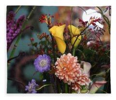 Flowers From My Window Fleece Blanket