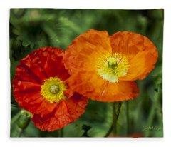 Flowers In Kodakchrome Fleece Blanket