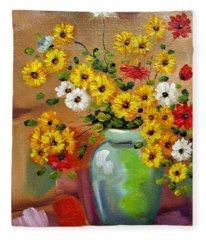 Flowers - Still Life Fleece Blanket