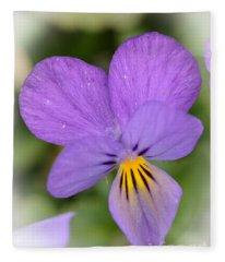 Flowers That Smile Fleece Blanket
