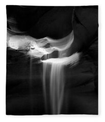 Flowing Sand In Antelope Canyon Fleece Blanket