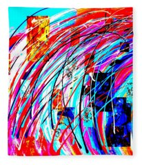 Fluid Motion Pop Art Fleece Blanket