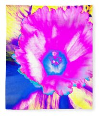 Fluorescent Daffodil  Fleece Blanket