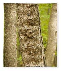 Fluted Tree Fleece Blanket