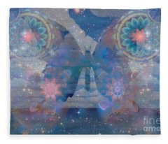 Flutterby Meditation Fleece Blanket