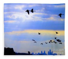 Fly Like The Wind Fleece Blanket