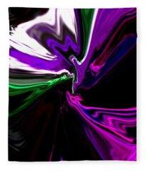 Purple Rain Homage To Prince Original Abstract Art Painting Fleece Blanket