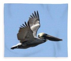 Flying Pelican Fleece Blanket