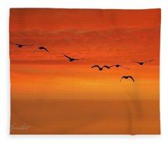 Flying South  Fleece Blanket