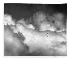 Flying Through The Clouds Fleece Blanket