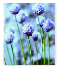 Focus On One Chive With Border Fleece Blanket